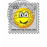 Stamped stamp emoticon   womens_apparel_tshirt