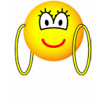 Big hoop earrings emoticon   womens_apparel_tshirt