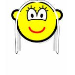 White haired buddy icon   womens_apparel_tshirt