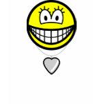 Heart shaped locket smile   womens_apparel_tshirt