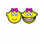 Identical twins buddy icon Girls  womens_apparel_tshirt