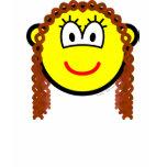 Curly hair buddy icon   womens_apparel_tshirt