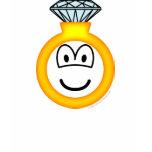 Diamond ring emoticon   womens_apparel_tshirt