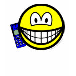 Mobile phoning smile   womens_apparel_tshirt