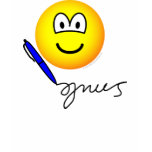 Writing emoticon   womens_apparel_tshirt