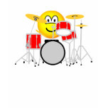Drumming emoticon Drum kit  womens_apparel_tshirt