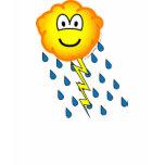 Thunder cloud emoticon   womens_apparel_tshirt