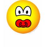 Dummy emoticon Baby pacifier  womens_apparel_tshirt