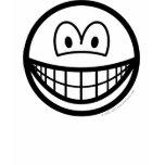 Black and white smile   womens_apparel_tshirt