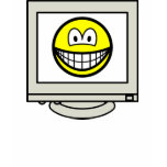 Computer screen smile   womens_apparel_tshirt
