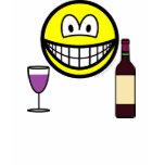 Wine drinking smile   womens_apparel_tshirt