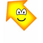 Up left emoticon arrow  womens_apparel_tshirt