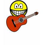 Acoustic guitar smile   womens_apparel_tshirt