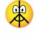 Peace emoticon   womens_apparel_tshirt