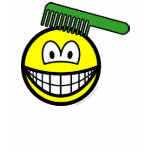 Combing smile   womens_apparel_tshirt