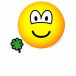 Good luck clover emoticon Holding  womens_apparel_tshirt