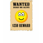 Wanted poster emoticon   womens_apparel_tshirt