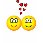 Two Emoticons in love   womens_apparel_tshirt