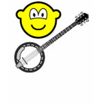 Banjo playing buddy icon   womens_apparel_tshirt