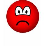 Sad red emoticon   womens_apparel_tshirt