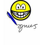 Writing smile   womens_apparel_tshirt