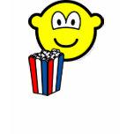 Popcorn eating buddy icon   womens_apparel_tshirt