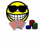Poker smile sunglasses  womens_apparel_tshirt