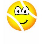 Tennisball emoticon   womens_apparel_tshirt