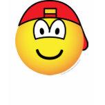 Backward cap emoticon   womens_apparel_tshirt