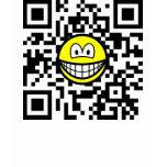 Qr Code smile 2D barcode  womens_apparel_tshirt
