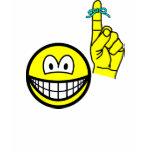 Reminder smile string around finger  womens_apparel_tshirt