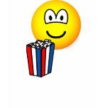 Popcorn eating emoticon   womens_apparel_tshirt