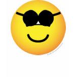 Sunglasses emoticon Round  womens_apparel_tshirt