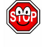 Stop sign emoticon   womens_apparel_tshirt