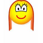 Redhead emoticon   womens_apparel_tshirt