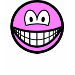 Colored smile pink  womens_apparel_tshirt