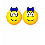 Identical twin emoticon Boys  womens_apparel_tshirt