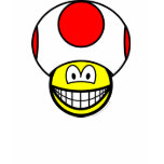 Toad smile video game  womens_apparel_tshirt