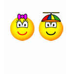 Brother and sister emoticon   womens_apparel_tshirt