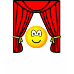 Theater emoticon stage curtains open  womens_apparel_tshirt