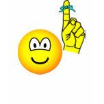 Reminder emoticon string around finger  womens_apparel_tshirt