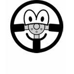 Steering wheel emoticon   womens_apparel_tshirt