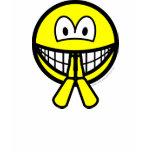 Biddende smile   womens_apparel_tshirt