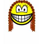 Curly hair smile   womens_apparel_tshirt