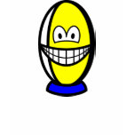 Rugby ball smile   womens_apparel_tshirt