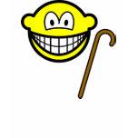 Walking cane smile   womens_apparel_tshirt
