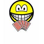 Card playing smile   womens_apparel_tshirt