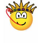 Frog king emoticon   womens_apparel_tshirt