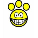 Paw print smile   womens_apparel_tshirt