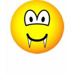 Vampire emoticon (before lunch)  womens_apparel_tshirt